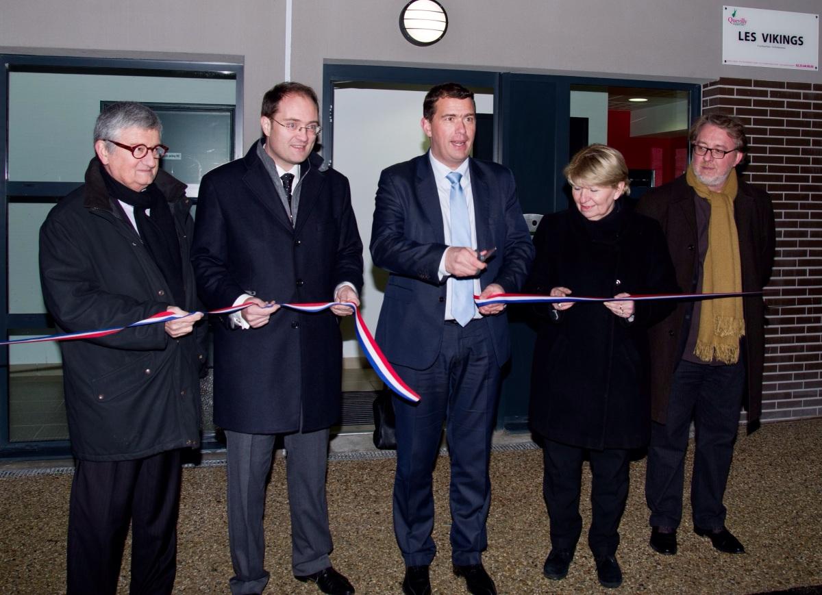 """Inauguration des 99 logements de la nouvelle résidence """"Les vikings"""" de Quevilly Habitat."""